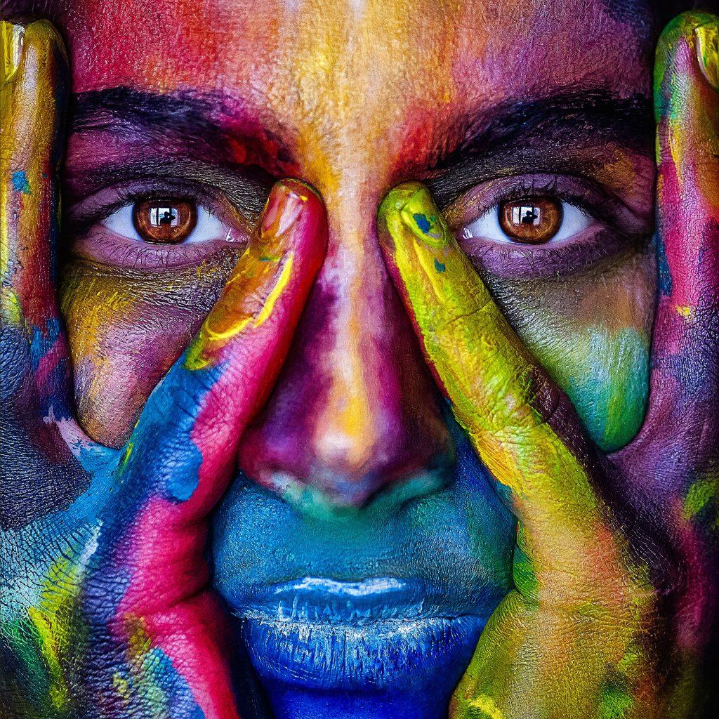 Kleurig portret